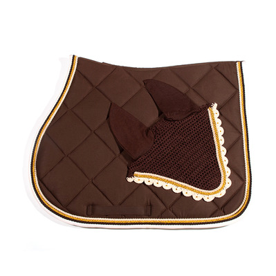 Wagner SADDLEPAD SET - Tapis de dressage + bonnet brown/creme