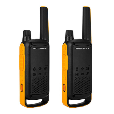 T82EX et TLKR - Walkie-talkies x2 black/yellow + kit de accesorios