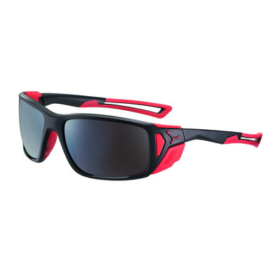 CEBE - PROGUIDE - Lunettes de soleil matt black/red/zone brown silver