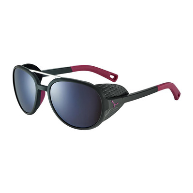 CEBE - SUMMIT - Lunettes de soleil matt black/red/zone brown silver