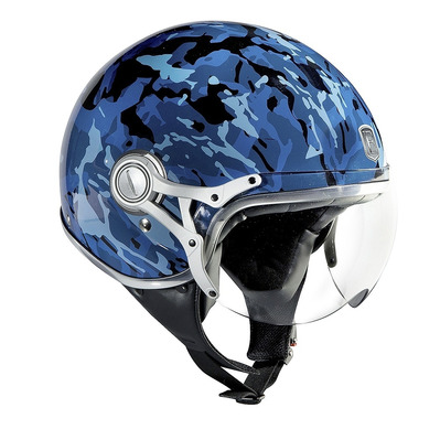 EXKLUSIV - FREEWAY - Jet Helmet - camo black/blue