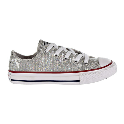 CONVERSE - CHUCK TAYLOR ALL STAR SPARKLE LOW TOP - Shoes - Junior - mouse/enamel red/white grade B
