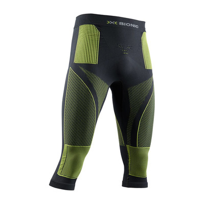 X-BIONIC - ENERGY ACCUM P 3/4 M - 3/4 Leggings - Men's - charcoal/yellow