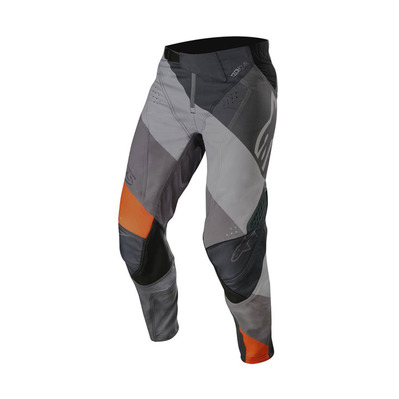 alpinestars - TECHSTAR VENOM - Pants - Men's - anthracite/grey/orange fluo