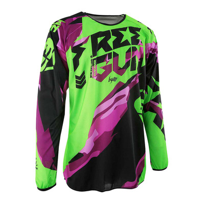 FREEGUN BY SHOT - DEVO HONOR - Maillot Homme neon green/purple