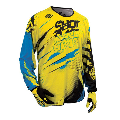 SHOT - CAPTURE - Maillot Homme neon yellow/blue