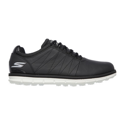SKECHERS - GO GOLF TOUR ELITE - Shoes - Men's - black leather/white trim