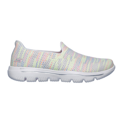 SKECHERS - GO WALK EVOLUTION ULTRA-GLADD - Shoes - Women's - white textile/multi trim