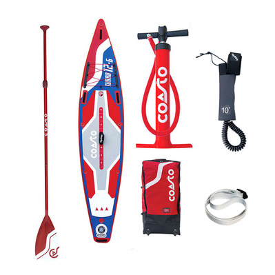 "COASTO - TURBO 12'6"" - Inflatable SUP Board - blue/red + Accessories"