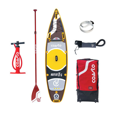 "COASTO - NAUTILUS 11'6"" - Inflatable SUP Board - brown/yellow + Accessories"
