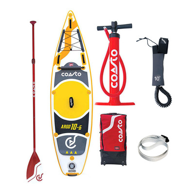 "COASTO - ARGO 10'6"" - Inflatable SUP Board - grey/yellow + Accessories"