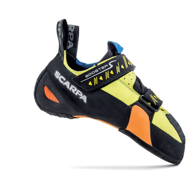 SCARPA - BOOSTER S - Climbing Shoes - black/yellow