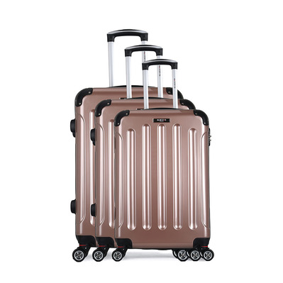 BLUESTAR - TUNIS 37L/64L/95L - Valises x3 rose gold