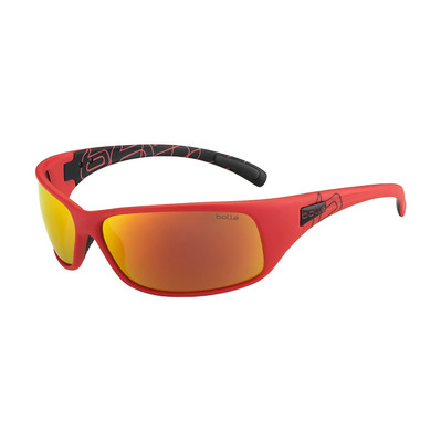 BOLLE - RECOIL - Polarised Sunglasses - matte black/red fire