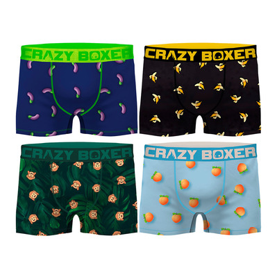 CRAZY BOXER - PK1648 - Boxers x4 Men's - multicolour