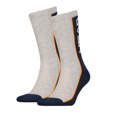 HEAD - PK1441 - Socks x6 grey/black/orange