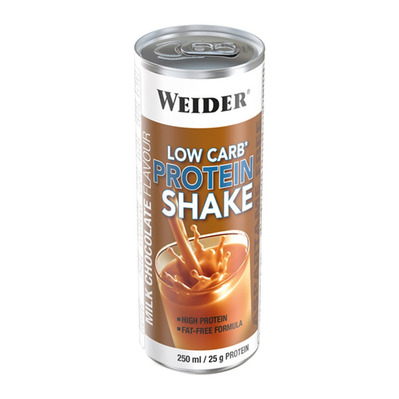 WEIDER NUTRITION - Weider LOW CARB PROTEIN - Canettes de 250ml x24 chocolat