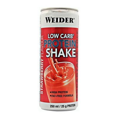WEIDER NUTRITION - Weider LOW CARB PROTEIN - Canettes de 250ml x24 fraise