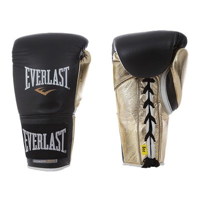 EVERLAST - POWERLOCK PRO 629 - Boxing gloves - black/gold