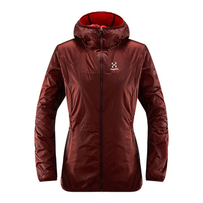 HAGLÖFS - Haglöfs ARAN - Jacket - Women's - brown red/hibiscus red