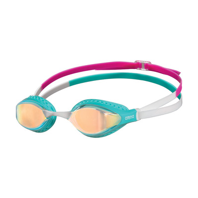 ARENA - AIR SPEED MIRROR - Lunettes de natation yellow copper/turquoise/multi