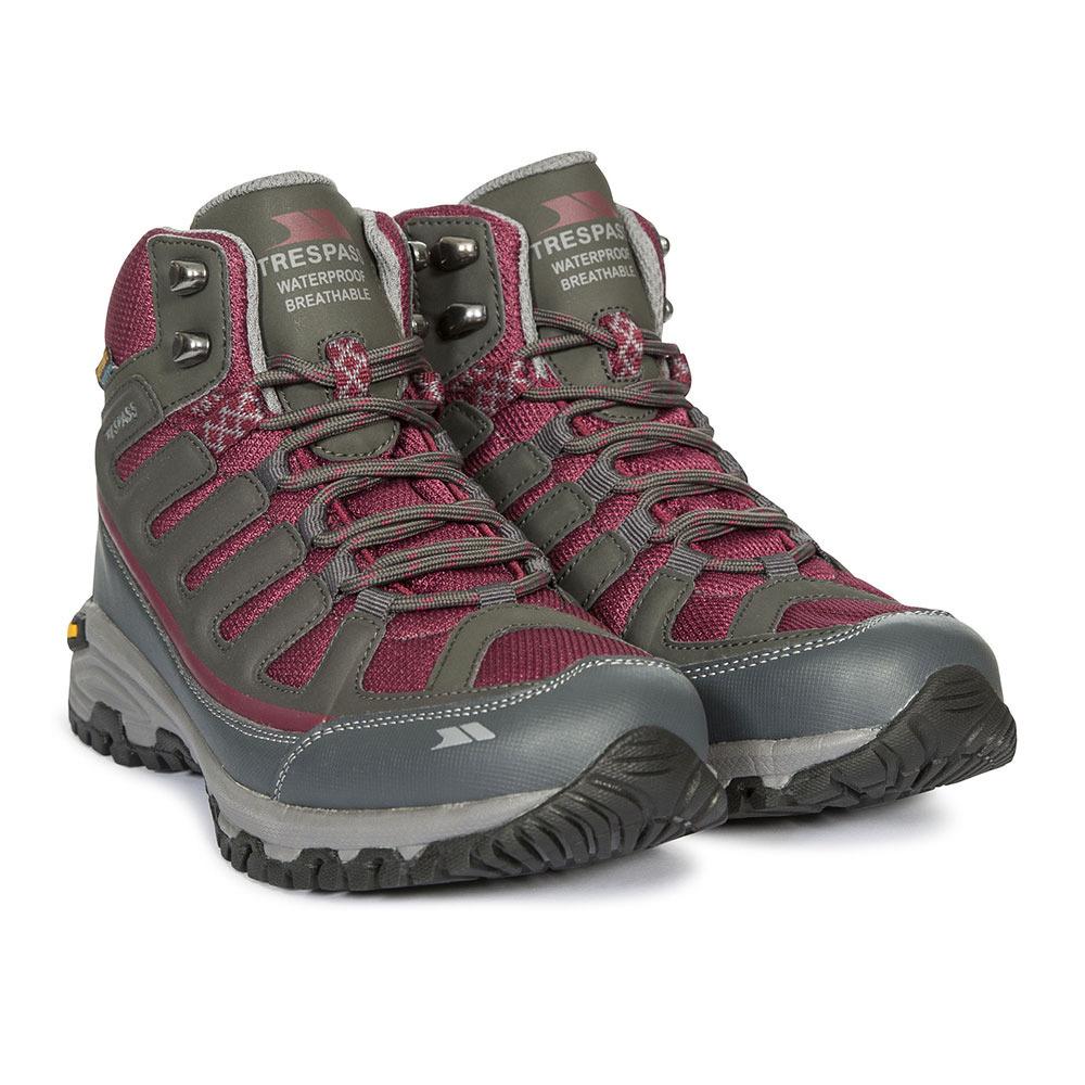Steel//Rouge Sre Gris Chaussures de Randonn/ée Hautes Femme 39 EU Trespass Tensing