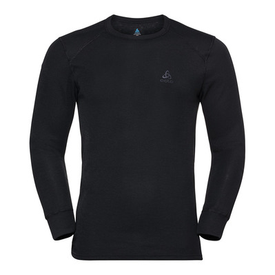 ODLO - SUW TOP Crew neck l/s ACTIVE WARM 2 Pack Homme black - diving navy