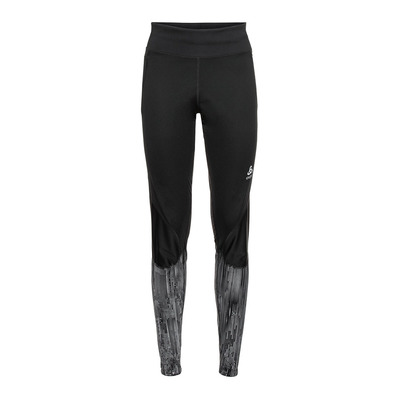 ODLO - Tights ZEROWEIGHT WARM REFLECTIVE Femme black - reflective graphic FW20
