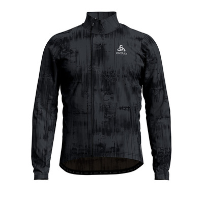 ODLO - Midlayer full zip ZEROWEIGHT CERAMIWARM Homme odlo graphite grey - black