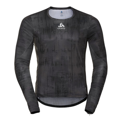 ODLO - BL TOP Crew neck l/s ZEROWEIGHT CERAMIWA Homme odlo graphite grey - black