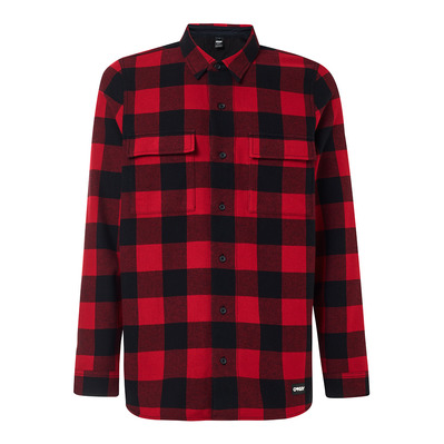 OAKLEY - PODIUM LONG SLEEVE FLANNEL Homme SUNDRIED TOMATO