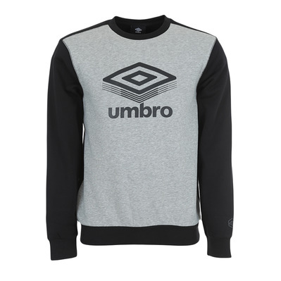 UMBRO - 648581-60 - Sweat Homme gris chine/noir