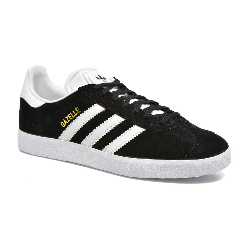 SPORTSWEAR Adidas GAZELLE - Trainers - Men's - black/white/gold ...