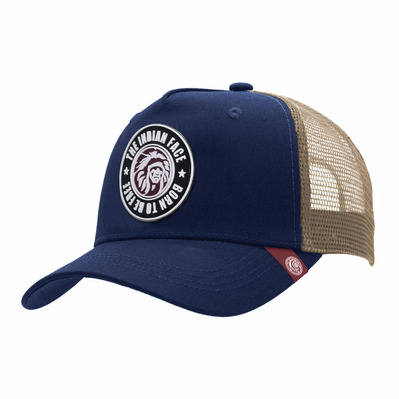 THE INDIAN FACE - BORN TO BE FREE - Gorra blue/brown