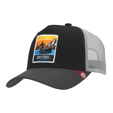 THE INDIAN FACE - BORN TO PADDLE - Gorra black/grey