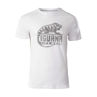 IGUANA - BAAKY II - T-Shirt - Men's - white/phantom logo