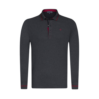 SIR RAYMOND TAILOR - BACKER - Polo - Men's - anthracite marl