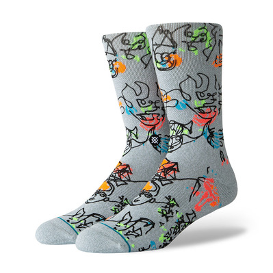 STANCE - FOUNDATION ELECTRIC SLIDE - Chaussettes Homme heather grey