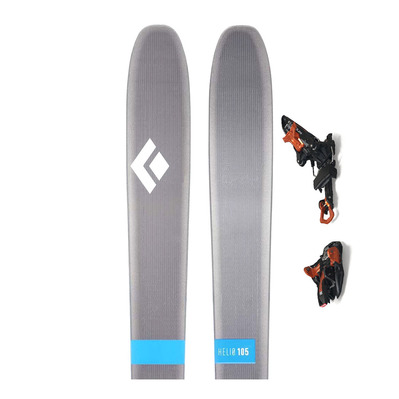BLACK DIAMOND - HELIO 105 SKIS + KINGPIN 13 - Touring Skis + Bindings - black/copper