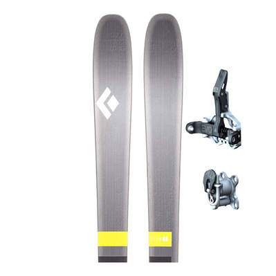 BLACK DIAMOND - HELIO 88 SKIS + BINDING SL EVO WORLD CUP - Touring Skis + Bindings - black/white