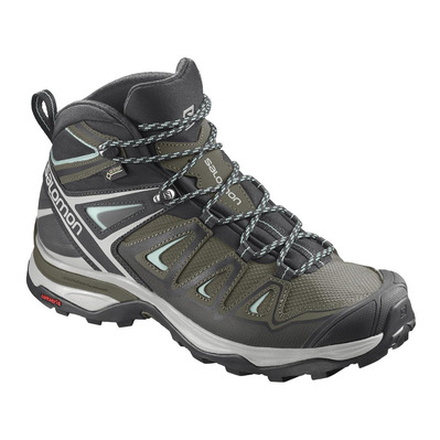 SALOMON - X ULTRA 3 MID GTX - Scarpe da escursionismo Donna olive night/black/icy morn