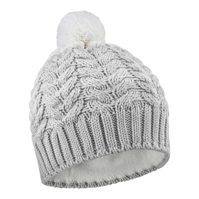 SALOMON - POLY - Beanie - lunar rock/white