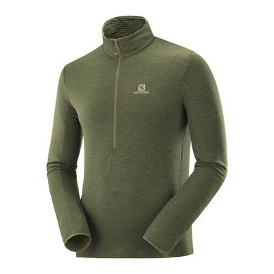 SALOMON - OUTLINE HZ - Polaire Homme olive night