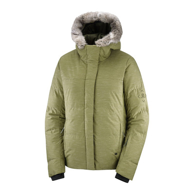 SALOMON - SNUGGLY WARM - Piumino da sci Donna martini olive/heather
