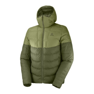 SALOMON - SIGHT STORM - Anorak hombre olive night/martini