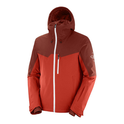 SALOMON - UNTRACKED - Giacca Uomo goji berry/madder/