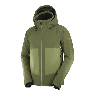 SALOMON - EPIC - Veste Homme olive night/martini olive/white
