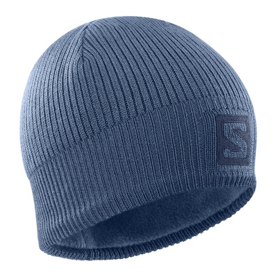 SALOMON - LOGO - Gorro dark denim/mood indigo