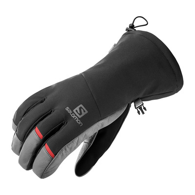 SALOMON - PROPELLER LONG - Gants Homme black/galet grey/olive