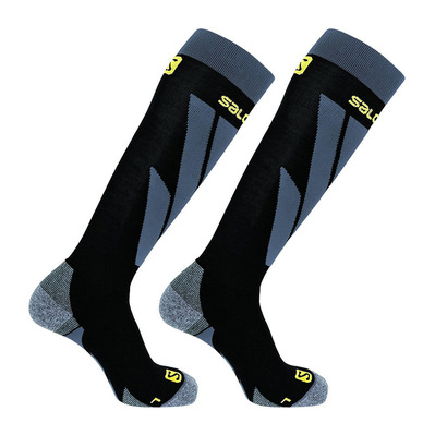 SALOMON - Socks S/ACCESS 2-PACK-BLACK-BLACK-Co Unisexe BLACK-Co